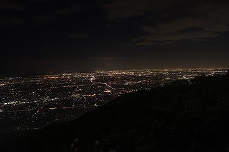池田山フライトエリア 第2テイクオフの夜景