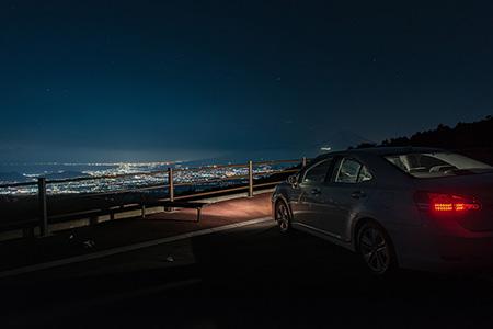 池の向駐車場 伊豆スカイラインの夜景