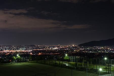 生松台中央公園の夜景