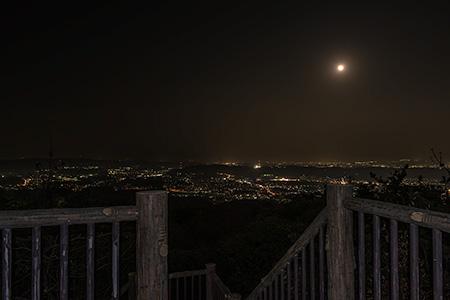 生駒山麓公園 展望台の夜景