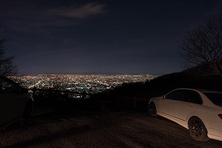 夕日駐車場 信貴生駒スカイラインの夜景