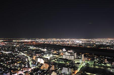 アイ・リンクタウン展望室の夜景
