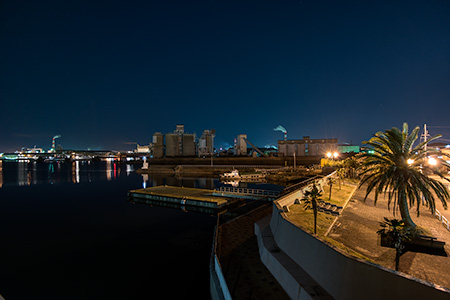 稲葉水門の夜景