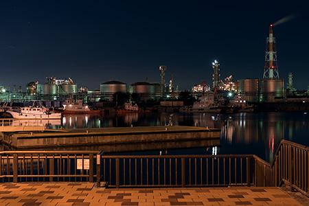 稲葉翁記念公園の夜景
