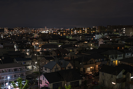 稲葉山公園の夜景