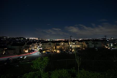 稲荷前第六公園の夜景