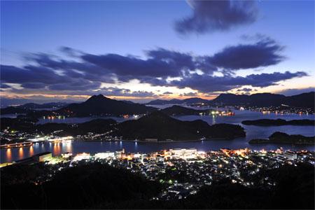 因島公園の夜景