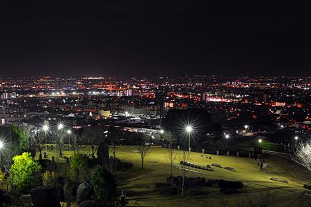 祈りの丘記念公園の夜景