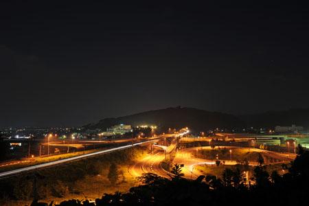 インター展望台の夜景