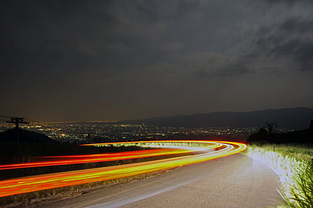 イオックスアローザスキー場の夜景