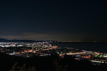 笠懸山の夜景