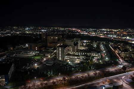石川県庁 展望ロビーの夜景