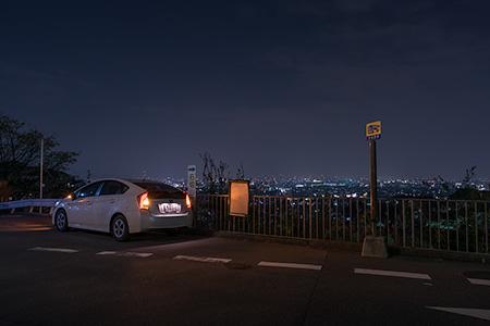 石切駅前の夜景
