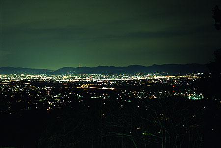 石巻山の夜景