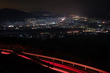 高野山町石道展望台の夜景