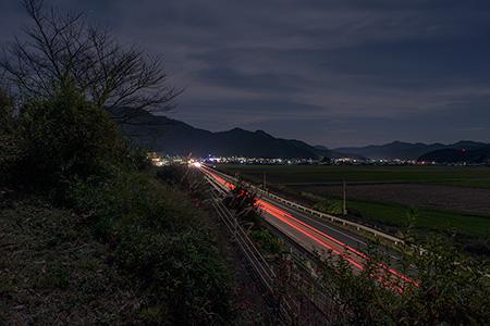 石崎の立石跡の夜景