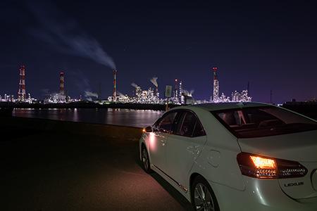 磯津堤防突堤の夜景