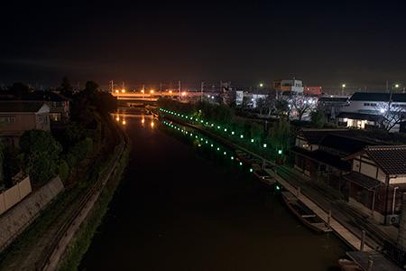 水郷潮来あやめ園の夜景