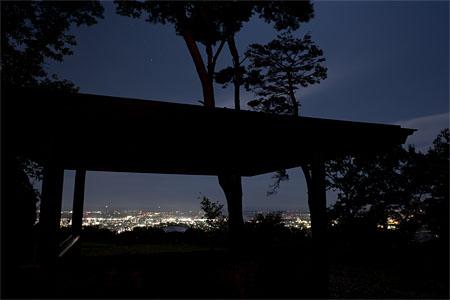 グリーンピア岩沼 第一展望台の夜景