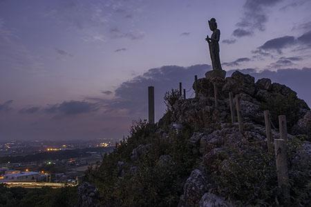 岩屋観音の夜景