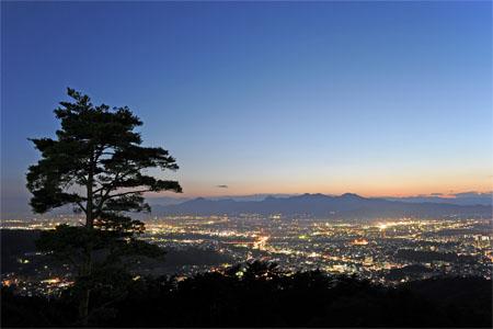 岩山公園の夜景