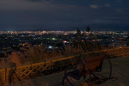 伊予灘SA(上り)の夜景