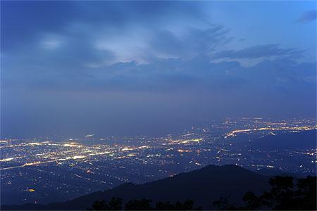 陣馬形山の夜景