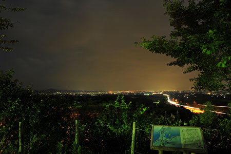 城端SAの夜景