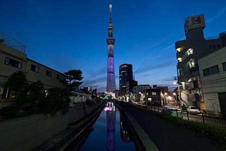 十間橋の夜景
