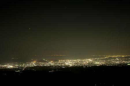 十国峠展望台の夜景
