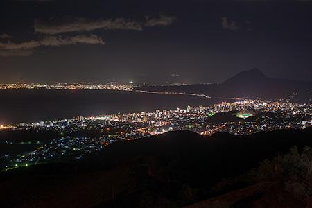 十文字原展望台の夜景