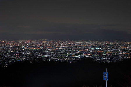 十三峠展望広場の夜景