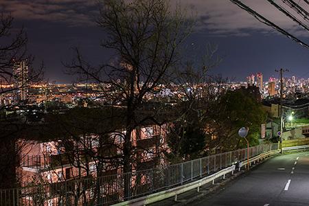十文字山西公園の夜景