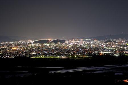円山花木園の夜景