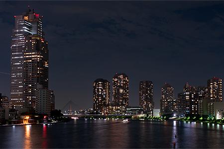 かちどき橋の夜景 (東京都中央区...