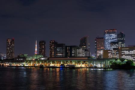 かちどき橋の夜景