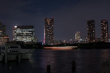 勝どき5丁目緑地の夜景
