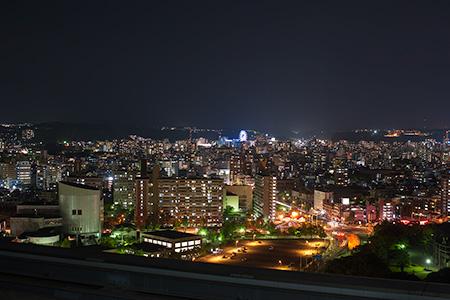 鹿児島県庁 展望ロビーの夜景