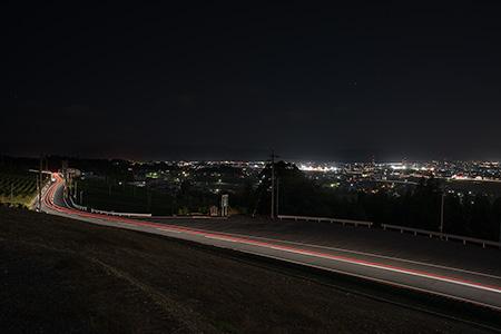 霞間ヶ渓公園の夜景