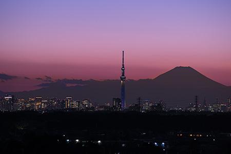 鎌ヶ谷市役所 かまがやスカイビューの夜景