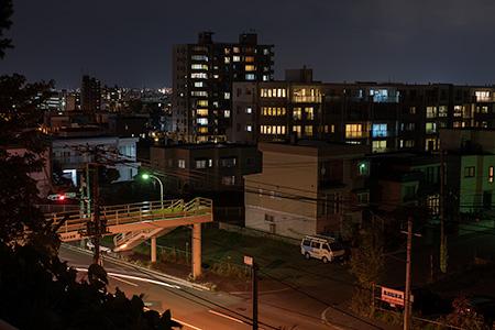 上手稲神社の夜景