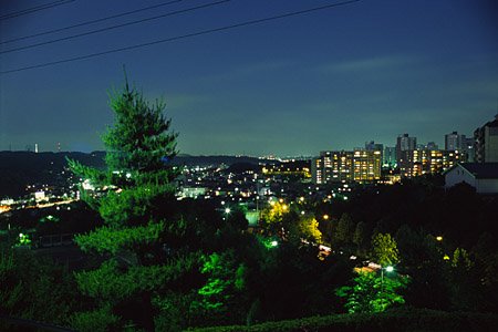 上柚木公園の夜景