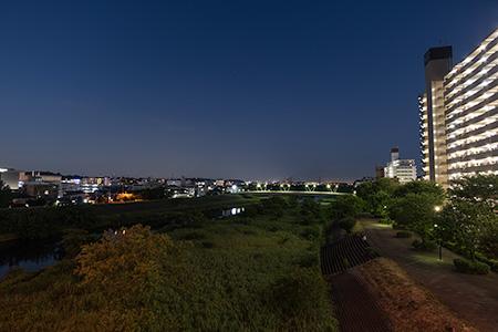 鴨池大橋の夜景