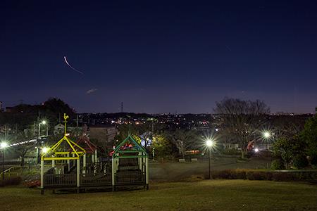 金井遊歩公園の夜景