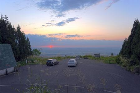 金倉山駐車場の夜景