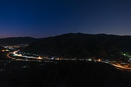 金尾山つつじ公園の夜景