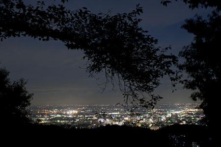 金山自然公園の夜景