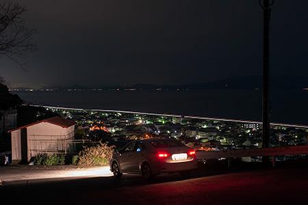 蒲原中配水池の夜景