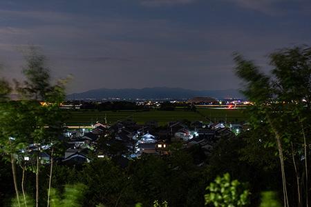神田PA(下り)の夜景