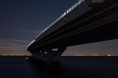 金田海岸の夜景
